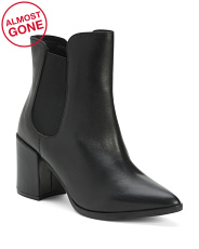 Made In Italy Leather Pointy Toe Booties