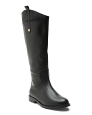 Made In Italy Tall Shaft Leather Boots