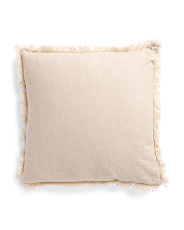 22x22 Pillow With Fringe
