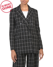 Harlene Windowpane Blazer