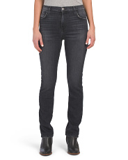 High Waist Stovepipe Straight Jeans