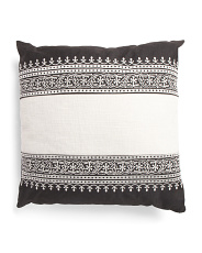 24x24 Oversized Scroll Stripe Pillow