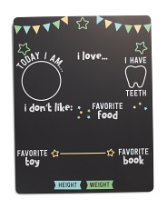Gender Neutral Baby Highlights Chalkboard