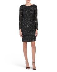 Sequin Embellished Cocktail Dress
