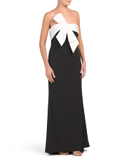 Bow Front Long Gown