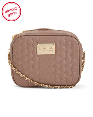 Honey Quilted Camera Crossbody