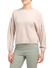 Cashmere Exaggerated Blouson Sweater