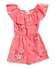 Big Girls Floral Ruffle Romper