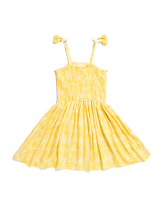 Big Girls Smocked Sundress