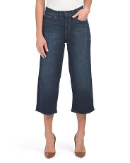 Juniors Classic Wide Leg Cropped Jeans