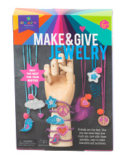 Craft Tastic Make & Give Glitter Jewelry Kit