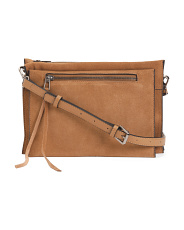 Maisie Triple Compartment Suede Crossbody