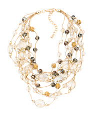 8 Strand Crystal Beaded Necklace