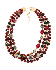 4 Strand Crystal Beaded Necklace