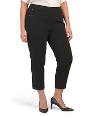 Plus Scuba Crepe Pants