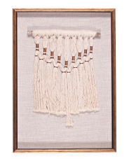 20x28 Macrame Art With Gold Frame