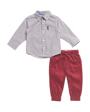 Infant Boys 2pc Shirt And Joggers Set