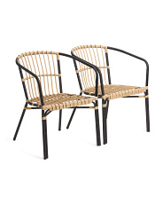 Set Of 2 Indoor Outdoor Natural Chairs