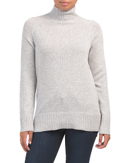 Mock Neck Soft Cashmere Sweater