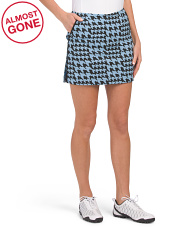 Bewitched Houndstooth Golf Skort