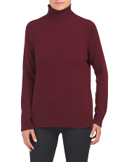 Mock Neck Cashmere Pullover Sweater