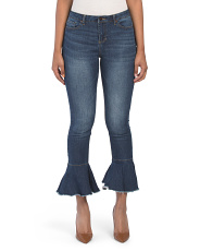 Juniors Denim Kick Flare Jeans