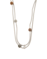 Sterling Silver Long Wrap Station Necklace