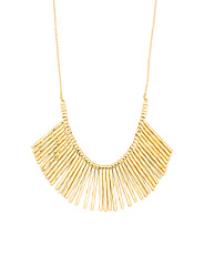 18k Gold Plated Fan Necklace
