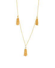 18k Gold Plated Fringe Wrap Necklace