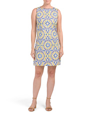 China Plate Printed Shift Dress