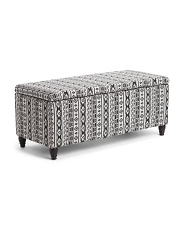Patterned Storage Bench