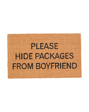 Please Hide Packages From Boyfriend Doormat