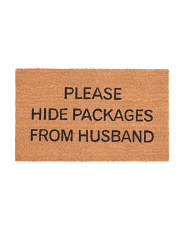 Please Hide Packages For Husband Doormat