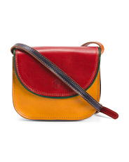 Made In Italy Vacchetta Leather Crossbody