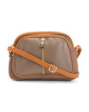 Multi Entry Leather Crossbody