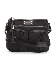 Large Nylon Crossbody With Multi Pockets