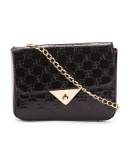 Signature Embossed Patent Chain Crossbody