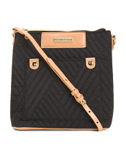 Quilted Nylon Passport Crossbody