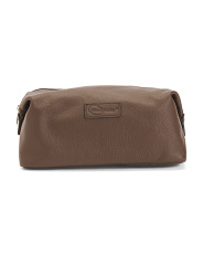 Leather Cosmetic And Toiletry Bag