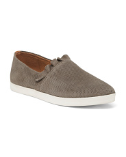 Memory Foam Suede Ruffle Slip On Sneakers