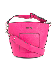 Leather Novelty  Bucket Crossbody