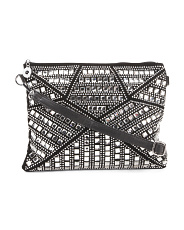 Oversize Convertible Clutch With Rhinestones