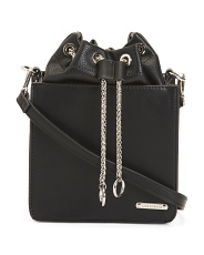 Drawstring Chain Crossbody