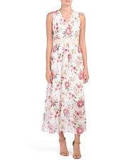 Made In Italy Floral Print Maxi Dress