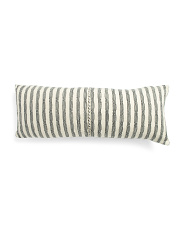 14x36 Textured Stripe Pillow