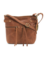 Distressed Crafton Leather Crossbody