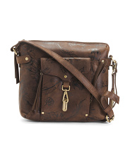 Distressed Leather Dormont Crossbody