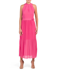 Made In Italy Pleated Maxi Dress