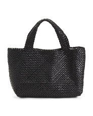 Made In Italy Woven Braided Leather Tote