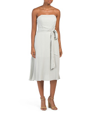 Juniors Australian Designed Textured Strapless Dress